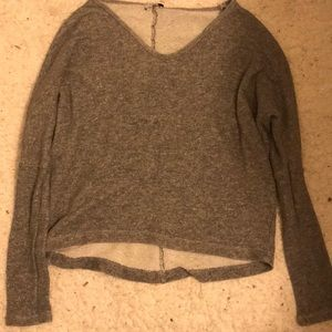 Speckled Grey Long Sleeve Shirt from Tobi